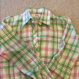 Button down Lilly Pulitzer shirt size 6.